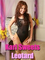 Kari Sweets in a Leotard